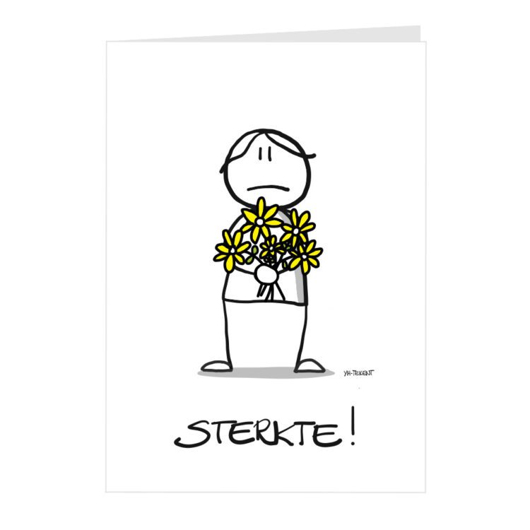 kaart sterkte - gele bloemen