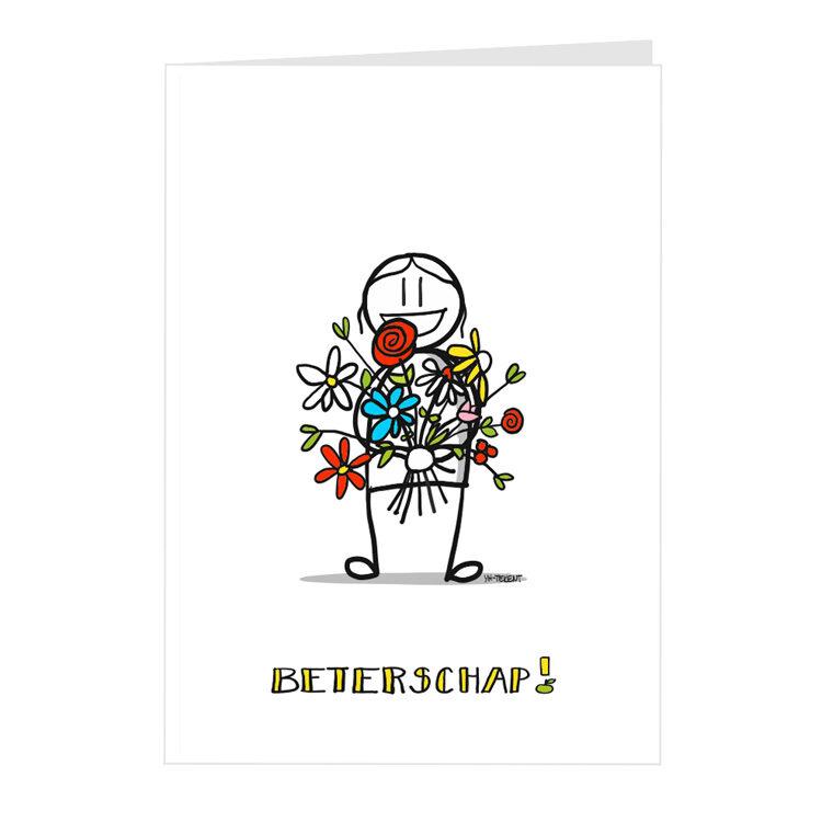 kaart beterschap - bloemen