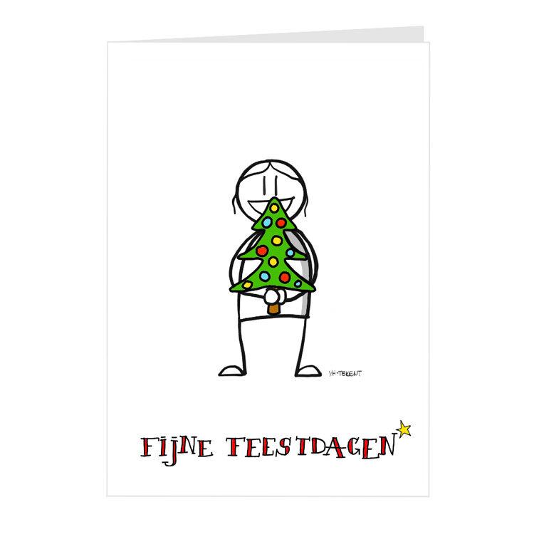 Kerstkaart - kerstboom