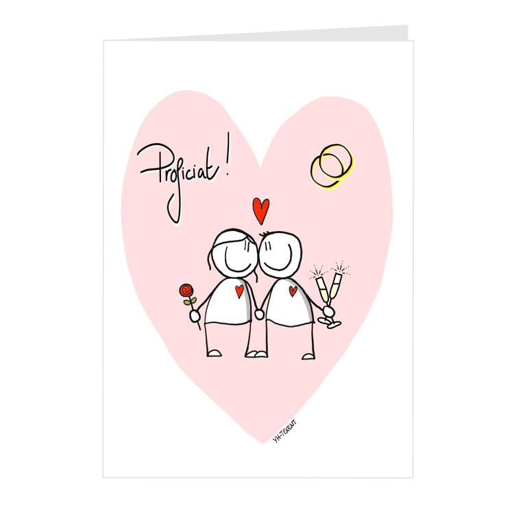 kaart proficat huwelijk YH-Tekent