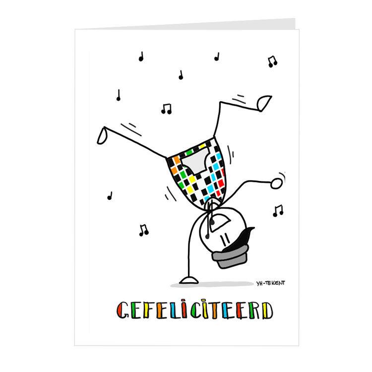 Kaart felicitatie - danser